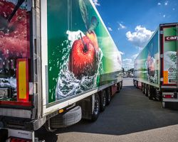 Transportation of fresh fruits and vegetables