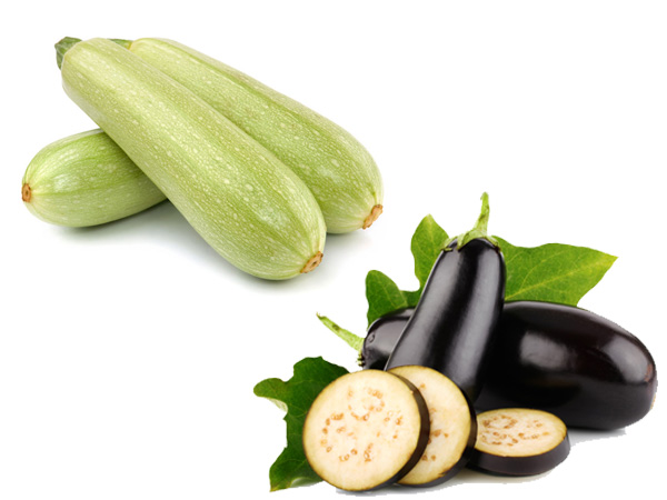 Marrows and aubergines