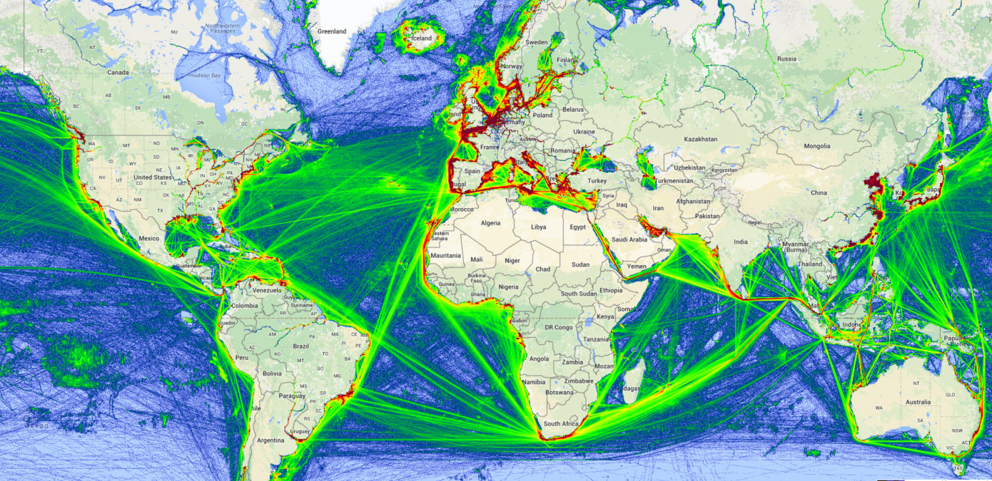 Vessel traffic online (AIS)
